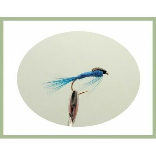 Fishing Flies Damsel Nymph Trout Flies 6 x teal Blue Damsel Size Choice
