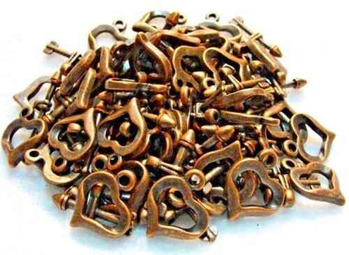 50Sets WHOLESALE Tibetan Antique Copper HEART /& ARROW Toggle Clasps Hooks Q0755
