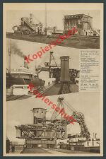 Danzig Gotenhafen Gdańsk Kohle Verladeanlage Kran Bagger Julius Pohlig Köln 1934