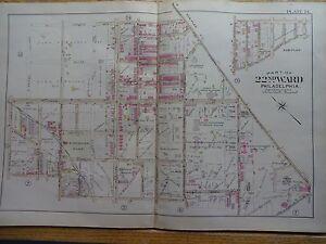 22nd Ward & E.walnuss Lane 1899 Map Of Philadelphia Stenton Ave Seltener