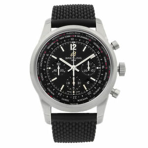 Breitling Transocean Unitime Pilot Chronograph Mens Watch AB0510U6/BC26-256S