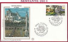 ITALIA FDC FILAGRANO GOLD CENTRO STORICO DI ROMA VITTORIANO 1991 FILATELICO T919
