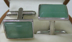 Vintage-Men-039-s-Shell-Agate-Jade-Square-Shirt-Cufflinks-Wedding-Party-Cuff-Links