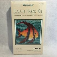 Wonderart Caron angel Fish Latch Hook Kit 12 X 12 4803
