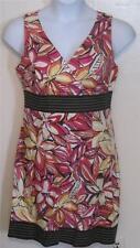 Dby Ltd misses 10 colorful floral sleeveles sheath dress Pretty j55