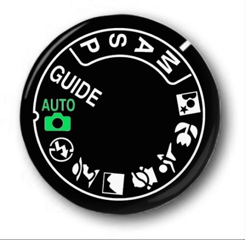 Cute  Photography 1 inch BLACK DIGITAL CAMERA DIAL 25mm Button Badge