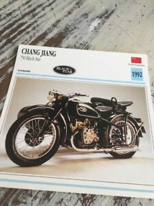 Chang-Jiang-750-Black-Star-1992-Karte-Motorrad-Sammlung-Atlas-China