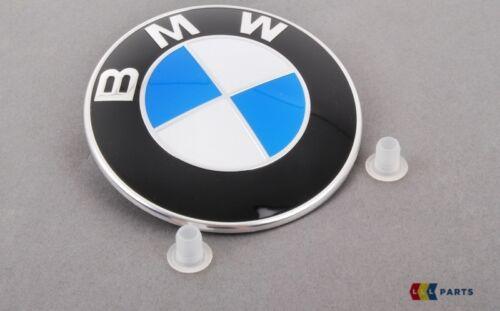 BMW NUOVO ORIGINALE F10 F11 F07 E60 E61 E63 E64 F01 F02 Set Cofano Badge Emblema
