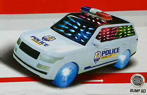 Details about Children Kids Flashing Lights Sound City Police Car Wagon  Jeep Music Toy Gift UK