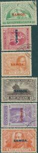 Samoa-1920-SG143-148-Victory-set-FU