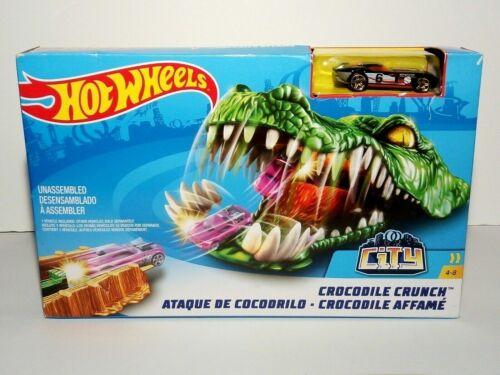 Hot Wheels Ciudad criatura Conjunto de Juego-cocodrilo Crunch//Zapatilla con vehículo-Nuevo Y En Caja