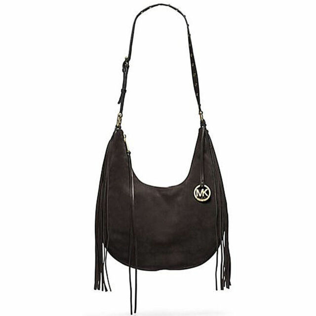 michael kors rhea slouchy suede large hobo shoulder bag coffee ebay rh ebay com