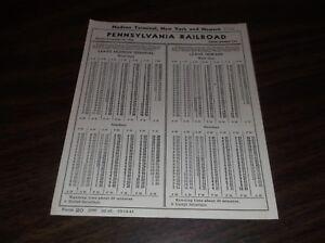 NOVEMBER-1943-PRR-PENNSYLVANIA-RAILROAD-FORM-20-HUDSON-TERMINAL-NEW-YORK