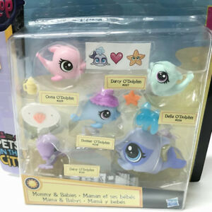 New Littlest Pet Shop Lps Pets In The City Odolphin Faminly Sets