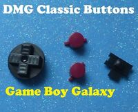 Nintendo Game Boy Buttons Set Classic Dmg System Original Color Black Maroon