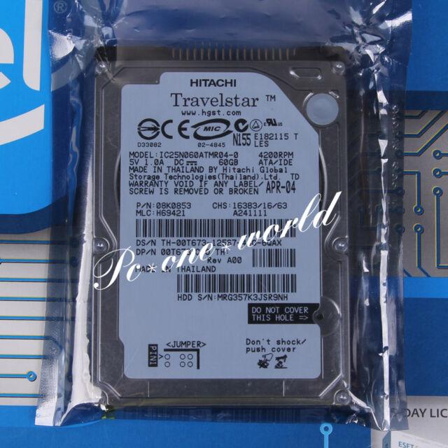 "100% OK IC25N060ATMR04-0 HITACHI 60 GB 2.5"" 4200 RPM 8 MB PATA Hard Disk HDD"