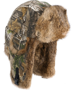 a393a3c3eca3a Image is loading Mad-Bomber-Realtree-Camo-Rabbit-Fur-Trapper-Hunting-