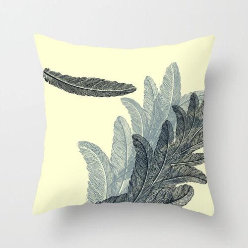 Polyester Feather Throw Waist Throw Pillow Case Sofa Cushion Cover Home Decor