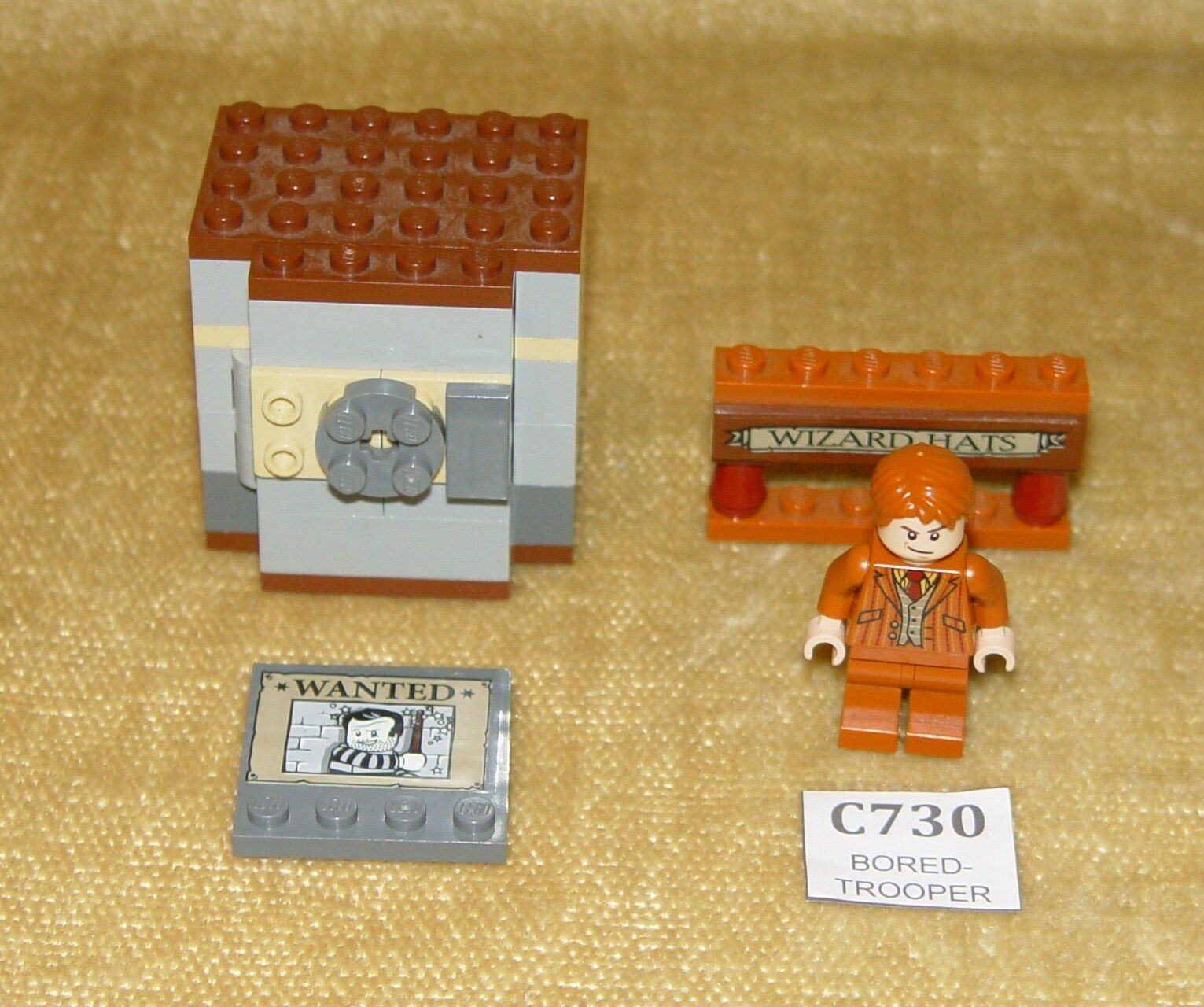 Lego minifigs  Harry Potter hp122 Frouge et George weasley & Diagon Alley Pièces