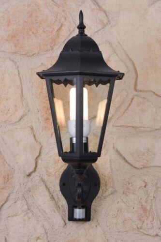 Extérieur luminaire extérieur lampe murale éclairage lampe de jardin Lampe Détecteur mvt NEUF