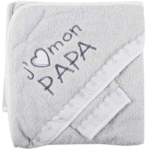 NISSANOU  Sortie de bain bébé, ensemble  Cape avec gant GRJP  idee cadeau