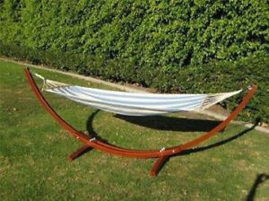 Prosourcefit Wooden Curved Arc Hammock Stand W Hammock