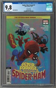 Spider-Man Annual #1 PETER PORKER SPIDER-HAM 1st MEOWS MORALES COVER CGC 9.8