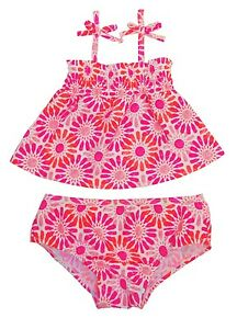 Oshkosh B'gosh Pink 2-pc Floral Tankini Top & Bottom Set Toddler Girls 12m,18m Clothing, Shoes & Accessories Baby & Toddler Clothing