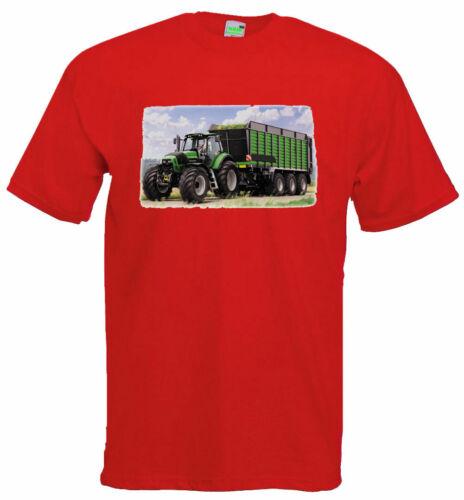 Enfants T-ShirtTracteur motif DEUTZ avec RemorqueremorqueurBulldog1144-0