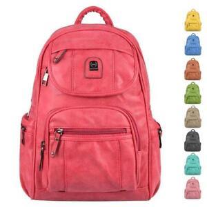 Damen City-Rucksack Backpack Schulter-tasche Freizeit Urlaub Sport Leder