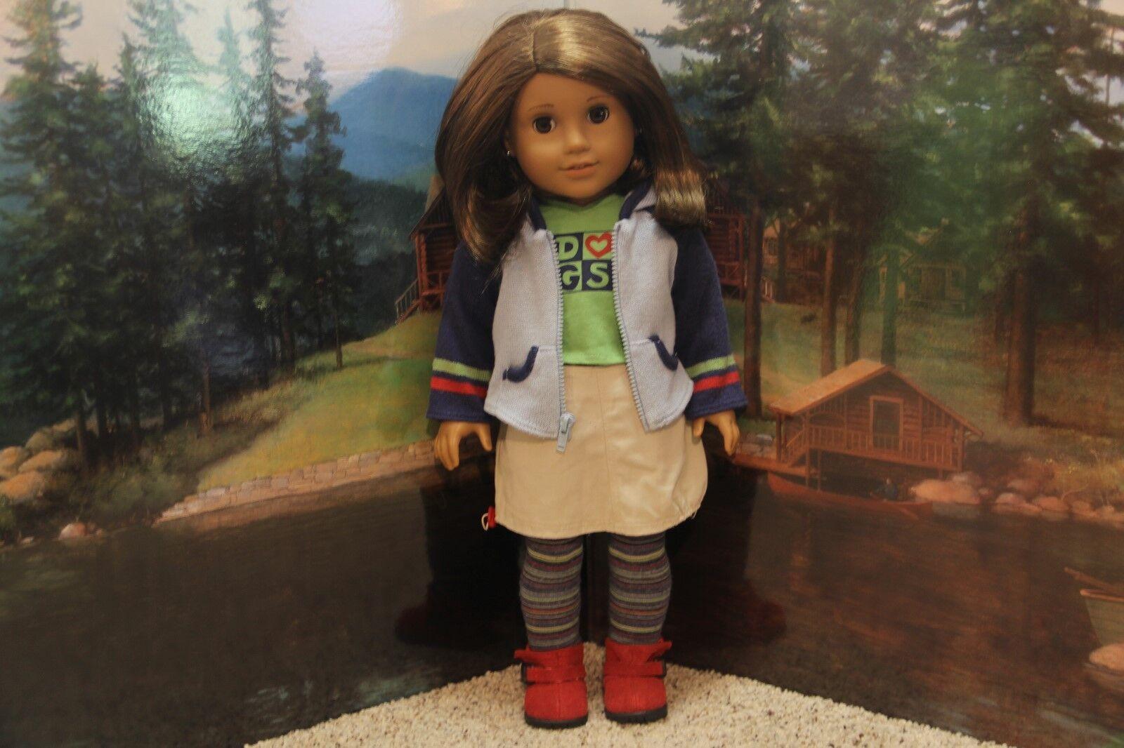 American Girl Lindsey  cumplir con traje  - completa-retirado-RARE-Usado en excelente condición (no Muñeca)