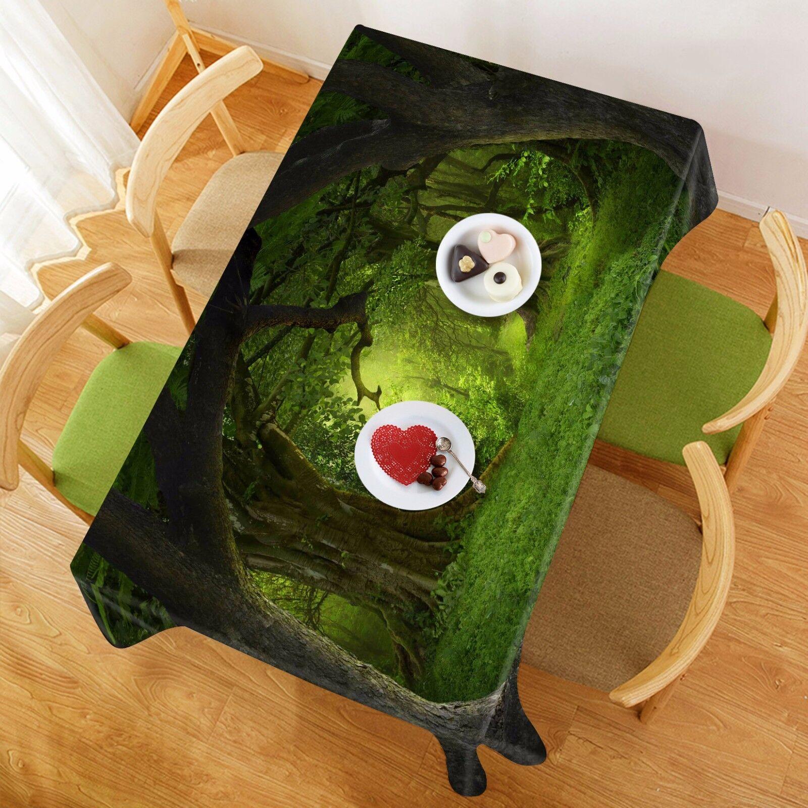 3D Gazon Arbre 5 Nappe Table Cover Cloth fête d'anniversaire AJ papier peint Royaume-Uni Citron