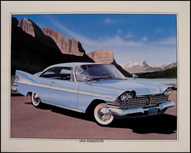 1959 Plymouth Fury Conv. Original Art Print Lithograph
