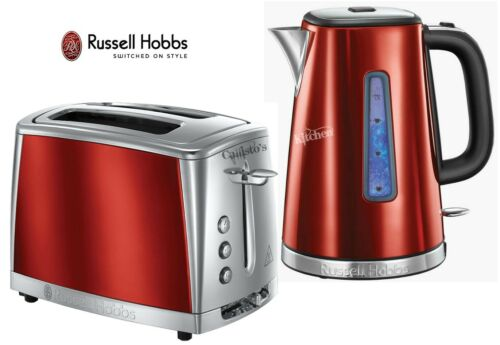 Russell Hobbs LUNA Bollitore e Tostapane Set Rosso Bollitore /& 2-Slot Tostapane-NUOVO
