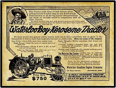 "1920 Waterloo Boy Kerosene Tractor John Deere Farm Metal Sign 9x12/"" 60652"