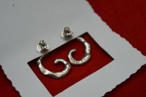 NEW Uno de 50 Stamped Silver Infinite Horn Pierced Statement Earrings