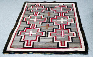 Antique-Navajo-Rug-with-Cross-Motifs-c-1920s-54-034-x-36-034