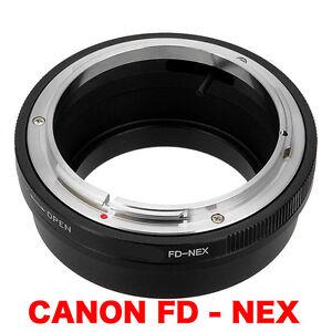 FD-NEX-Canon-FD-FL-Objektiv-Lens-Adapter-an-To-Sony-NEX-Kamera-E-Mount