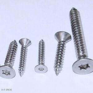 Blechschrauben DIN 7983 TX Edelstahl VA Linsensenkkopfschrauben 2,2-6,3mm
