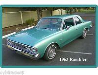1963 Rambler Auto Refrigerator / Tool Box Magnet Man Cave Shop