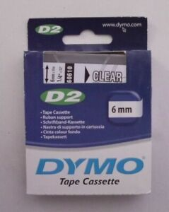 DYMO D2 Beschriftungsband  black on clear  6mmx10m     60610  OVP
