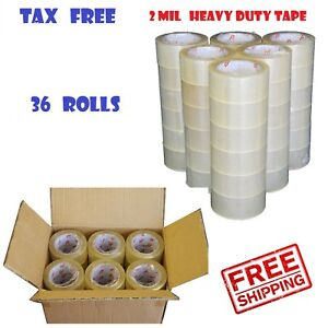 36-ROLLS-2-INCH-x-110-Yards-330-ft-Clear-Carton-Sealing-Packing-Package-Tape