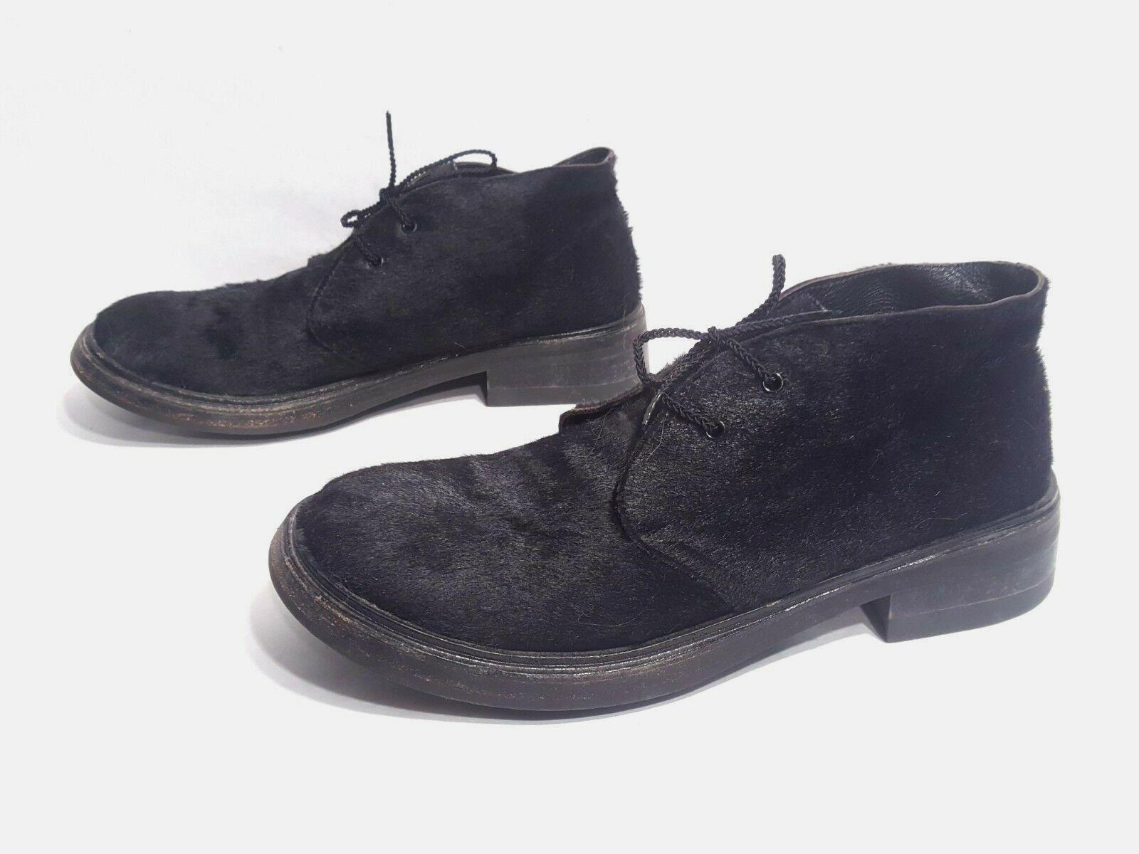 Excelente condición usada Gianni Barbato Cabello Becerro Negro Negro Negro Zapatos Oxford Hecho En Italia Talla EUR 39 US 8.5  entrega gratis