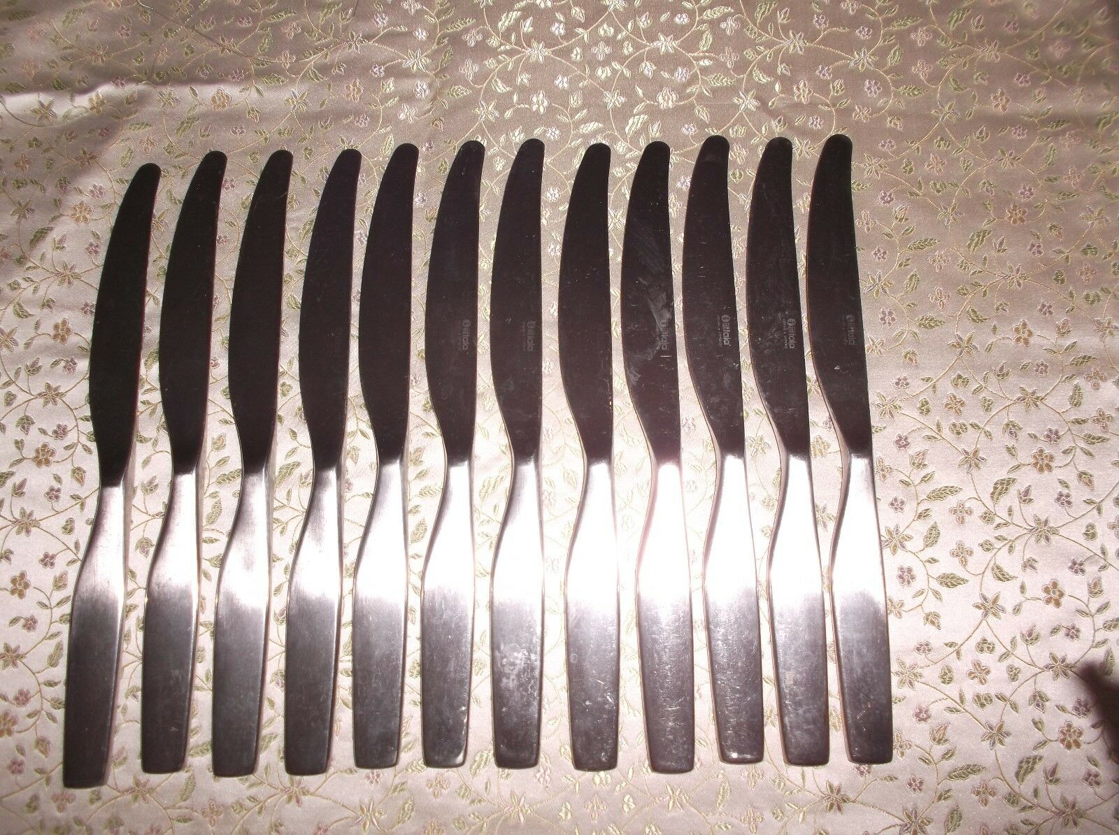 12 Iittala Stainless Steel  Dinner Knives, A Citerio 98, Matte, Modern Design