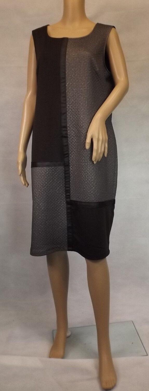 ULLA POPKEN  42  Noble étui-Robe  braun m. cuir Synthétique  Débard Sans Manche