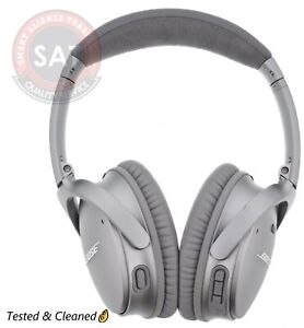 Bose-QuietComfort-35-Series-II-Headband-Wireless-Headphones-Silver-Used
