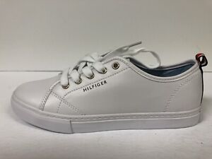 Lace-Up Sneakers-White, Size 7.5M