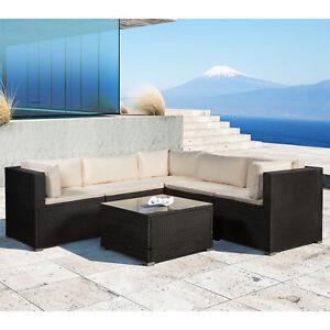 Gartenmöbel Polyrattan Lounge Gartenset Rattan Set schwarz ...