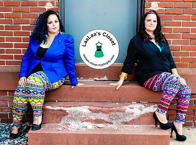 PLUS SIZE! Multi Color Stretch Leggings! 1X, 2X, 3X