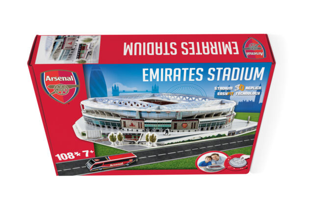 The Emirates - Build your Own Arsenal Stadium 3D Model Jigsaw Puzzle. New